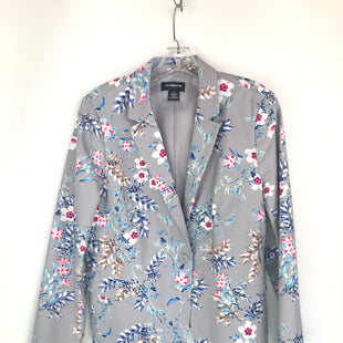 Primary Photo - BRAND: LIZ CLAIBORNE O STYLE: BLAZER JACKET COLOR: GREY WHITE SIZE: L SKU: 164-164140-16672