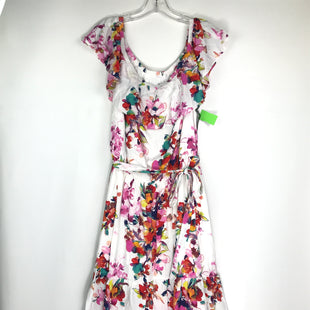 Primary Photo - BRAND: NEW YORK AND CO STYLE: DRESS SHORT SLEEVELESS COLOR: WHITE PINK SIZE: XL OTHER INFO: NEW! FLORAL PRINT SKU: 164-164196-554
