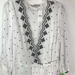 Primary Photo - BRAND: ANN TAYLOR LOFT STYLE: TOP LONG SLEEVE COLOR: WHITE BLACK SIZE: M OTHER INFO: NEW WITH TAG! SKU: 164-164175-5205