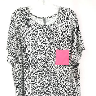 Primary Photo - BRAND: HONEYME STYLE: TOP SHORT SLEEVE COLOR: ANIMAL PRINT SIZE: XXL OTHER INFO: PINK POCKET SKU: 164-164183-1247