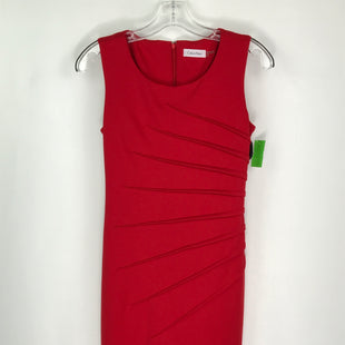 Primary Photo - BRAND: CALVIN KLEIN O STYLE: DRESS SHORT SLEEVELESS COLOR: RED SIZE: XS OTHER INFO: SIZE 2 SKU: 164-164140-17075