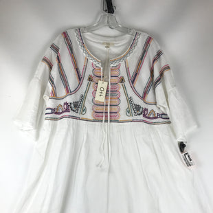 Primary Photo - BRAND: CLOTHES MENTOR STYLE: DRESS SHORT SHORT SLEEVE COLOR: WHITE SIZE: 2XOTHER INFO: NEW! COLORFUL EMBROIDERY SKU: 164-164183-1265.