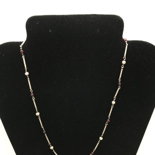 Primary Photo - BRAND:    CLOTHES MENTOR STYLE: NECKLACE COLOR: SILVER OTHER INFO: SILVER & PURPLE BEADS SKU: 164-164185-41