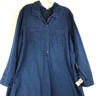 Primary Photo - BRAND: OLD NAVY STYLE: DRESS SHORT LONG SLEEVE COLOR: BLUE SIZE: 2X SKU: 164-164175-5252