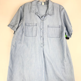 Primary Photo - BRAND: OLD NAVY STYLE: DRESS SHORT LONG SLEEVE COLOR: LIGHT BLUE SIZE: 2X SKU: 164-164175-5253