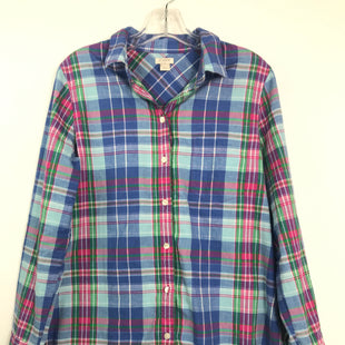 Primary Photo - BRAND: J CREW STYLE: TOP LONG SLEEVE COLOR: PLAID SIZE: M OTHER INFO: BLUE GREEN PINK SKU: 164-164189-665