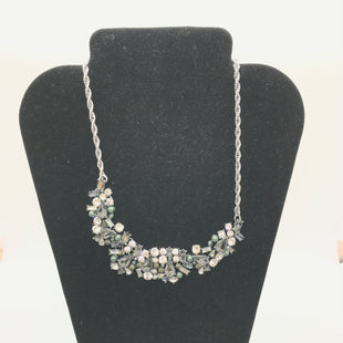 Primary Photo - BRAND:    CLOTHES MENTOR STYLE: NECKLACE COLOR: SILVER OTHER INFO: BLACK GREEN CRYSTALS/ PEARLS SKU: 164-164189-243