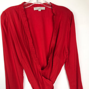 Primary Photo - BRAND: ANN TAYLOR LOFT STYLE: SWEATER CARDIGAN LIGHTWEIGHT COLOR: RED SIZE: M SKU: 164-164175-5208