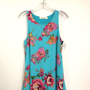 Primary Photo - BRAND: IMPECCABLE PIG STYLE: DRESS SHORT SLEEVELESS COLOR: BABY BLUE SIZE: M OTHER INFO: PINK FLOWERS SKU: 164-164189-667