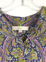 Photo #2 - BRAND: ANN TAYLOR LOFT <BR>STYLE: TOP LONG SLEEVE <BR>COLOR: BLUE YELLOW <BR>SIZE: S <BR>OTHER INFO: PAISLEY <BR>SKU: 164-164140-16440