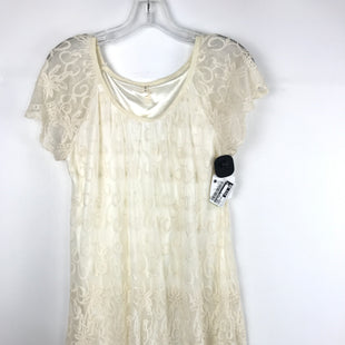 Primary Photo - BRAND: MY BELOVED STYLE: DRESS SHORT SHORT SLEEVE COLOR: CREAM SIZE: S OTHER INFO: EMBROIDERED LACE SKU: 164-164196-168