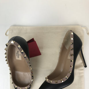 Primary Photo - BRAND: VALENTINO STYLE: SHOES HIGH HEEL COLOR: BLACK SIZE: 7.5 OTHER INFO: 37.5, NIB!, NEW! COMPARE AT $845 SKU: 164-164140-14522