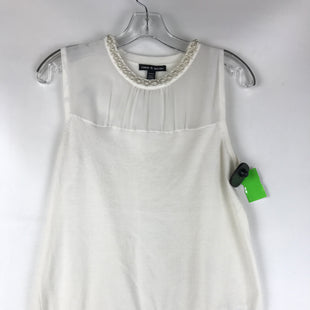 Primary Photo - BRAND: CABLE AND GAUGE STYLE: TOP SLEEVELESS COLOR: IVORY SIZE: M OTHER INFO: PEARL DETAILS SKU: 164-164196-446