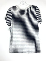Photo #1 - BRAND: J CREW O <BR>STYLE: TOP SHORT SLEEVE <BR>COLOR: BLUE WHITE <BR>SIZE: S <BR>OTHER INFO: STRIPE T <BR>SKU: 164-164140-16434