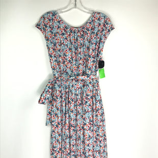 Primary Photo - BRAND: LOFT STYLE: DRESS SHORT SLEEVELESS COLOR: BLUE RED SIZE: XL OTHER INFO: FLORAL PRINT/BELTED SKU: 164-164196-550