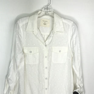 Primary Photo - BRAND: SONOMA STYLE: TOP LONG SLEEVE COLOR: WHITE SIZE: M OTHER INFO: NEW! BUTTON UP SKU: 164-164196-527