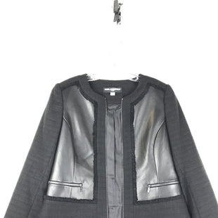 Primary Photo - BRAND: KARL LAGERFELD STYLE: BLAZER JACKET COLOR: BLACK SIZE: 10 OTHER INFO: FAUX FLEATHER STRIPS/ZIP SKU: 164-164196-444