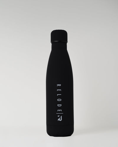Metal Water Bottle 500ml - Black - RELODE.™