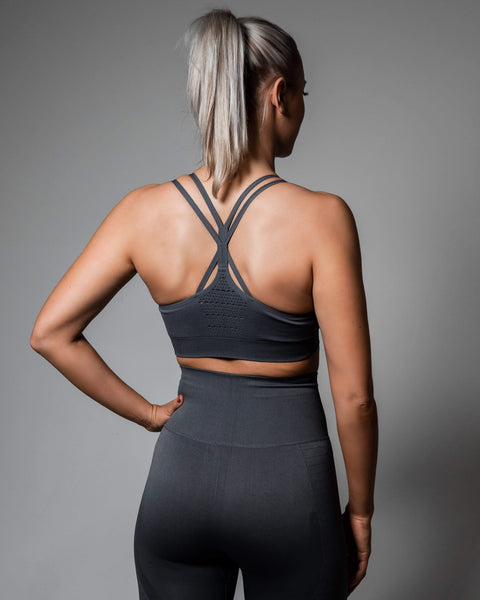 POWER. Seamless Top - Grey - RELODE.™