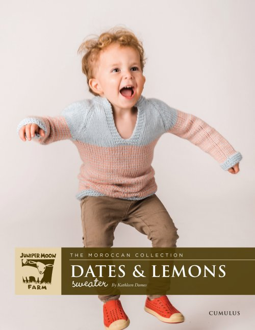 Juniper Moon Farm Cumulus Dates & Lemons Sweater (Free with Yarn Purchase)