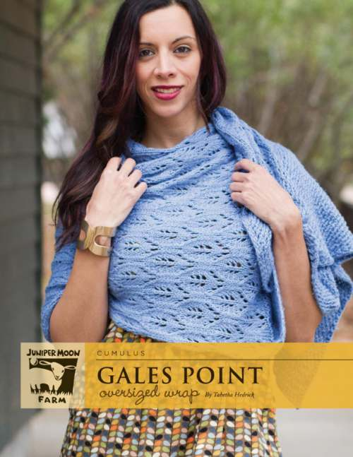 Juniper Moon Farm Cumulus Gales Point Oversized Wrap (PDF Download)