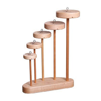 Ashford Drop Spindle Collection - 5 Spindles and Stand Lacquered