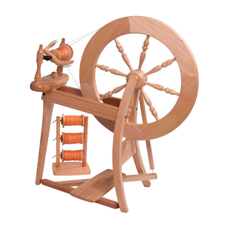 Ashford Traditional Spinning Wheel Double Drive Natural