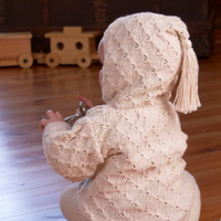 Tassel Organic Cotton Baby Cardigan Kit by Appalachian Baby Design