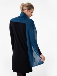 Shibui Knits Scroll Scarf (Pebble + Silk Cloud)