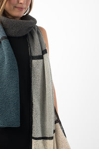 Shibui Knits Flagstone Colorblock Wrap (Twig)