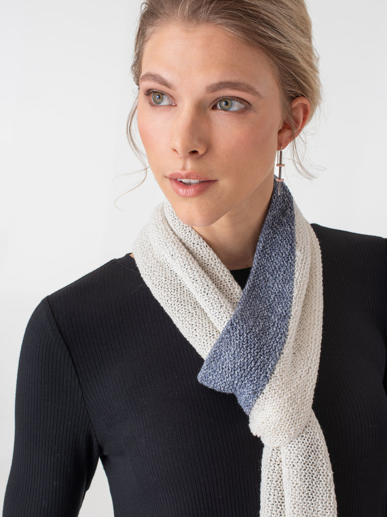 Shibui Knits Flume Two-Color Scarf (Twig)