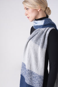Shibui Knits Strata Scarf (Cima+Pebble+Silk Cloud)