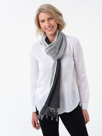 Shibui Knits Gossamer Scarf (Pebble + Silk Cloud)