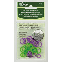 Clover Soft Round Ring Stitch Markers