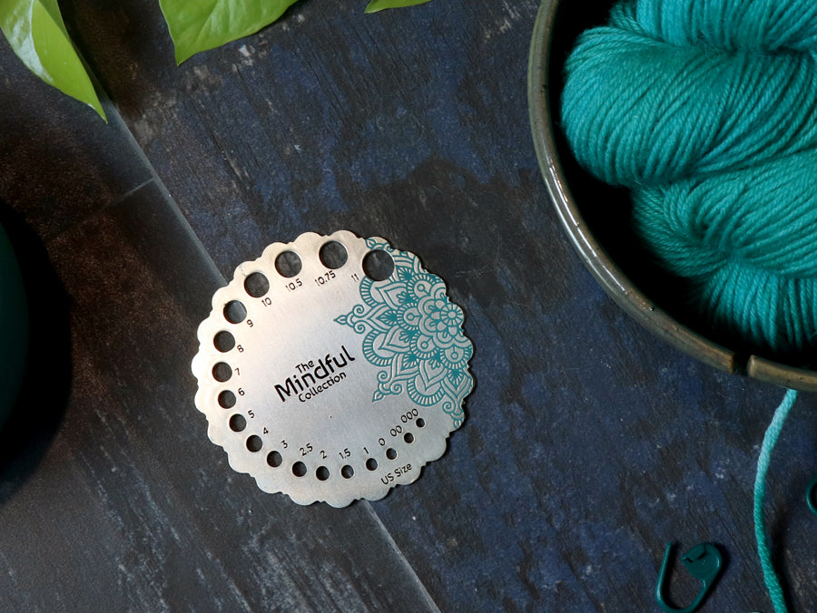 Knitter's Pride Mindful Collection Sterling Needle Sizer/Gauge