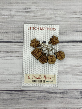 Removable Celtic Stitch Markers for Knitting and Crochet Locking Stitch Marker