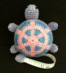 Retractable Crochet Animal Tape Measure by Buttons Etc.