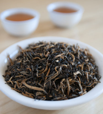 Our Golden TIppy Yunnan, Chinese Black Tea, produces an infusion with spicy notes reminiscent of fine chocolate with a delicious malty finish.