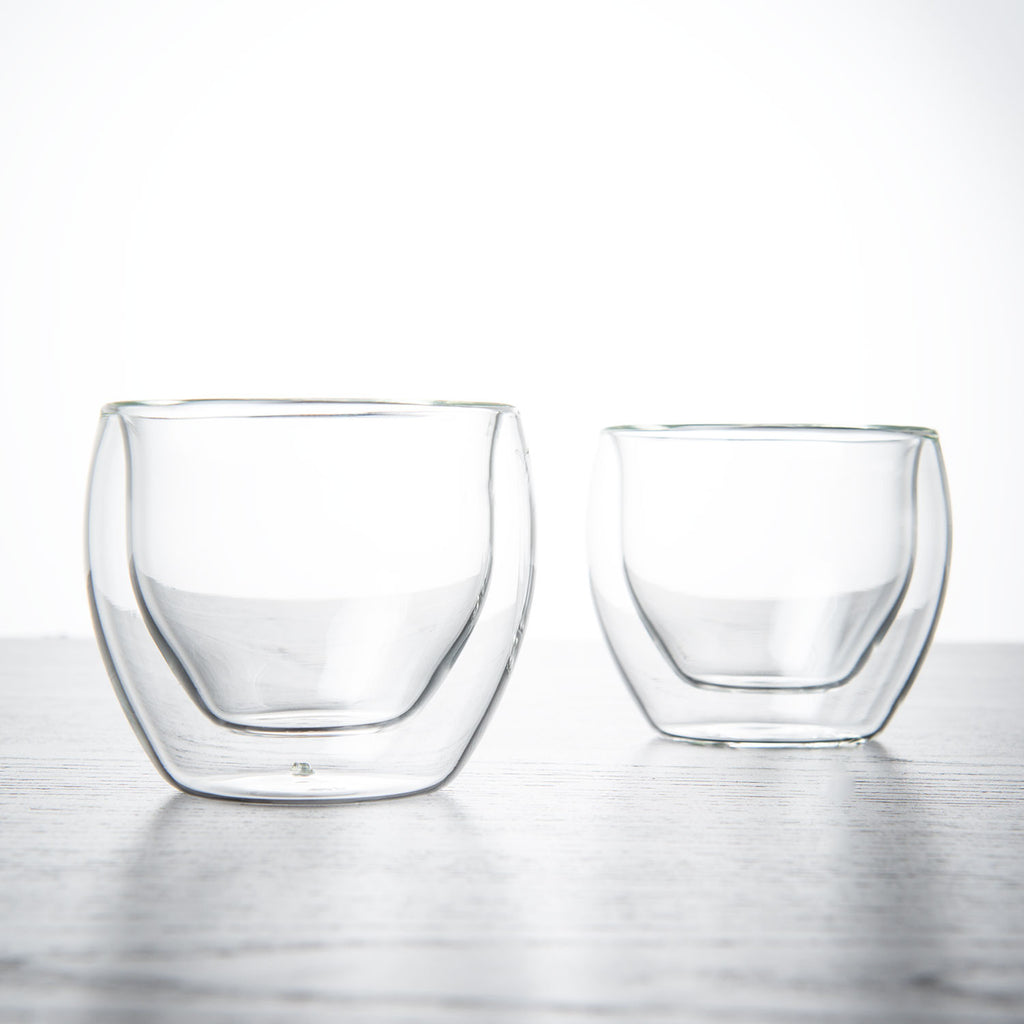 Double Wall Glass Thermo Teacups - 2 pack