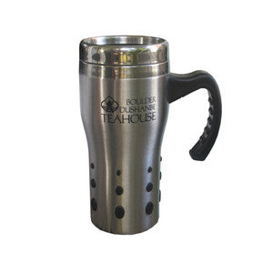 Teahouse Logo Silver Travel Mug