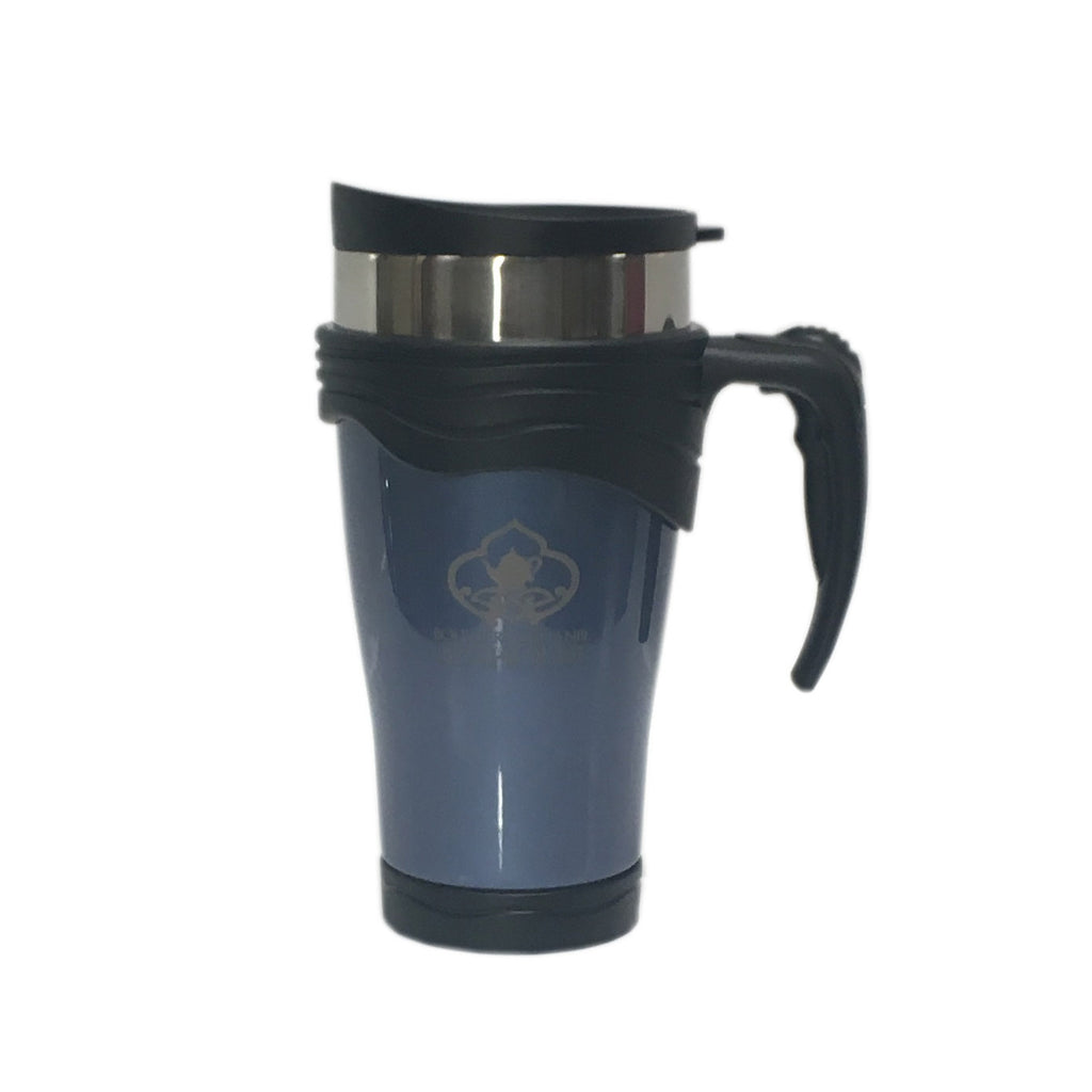 Teahouse Logo Blue Travel Mug 16 oz