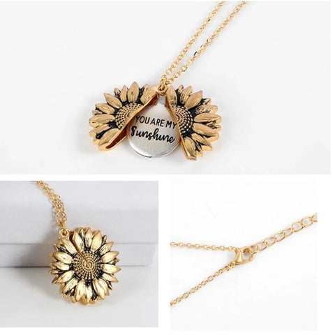 """""""You Are My Sunshine"""" Necklace - The Sunflower Pendant"""