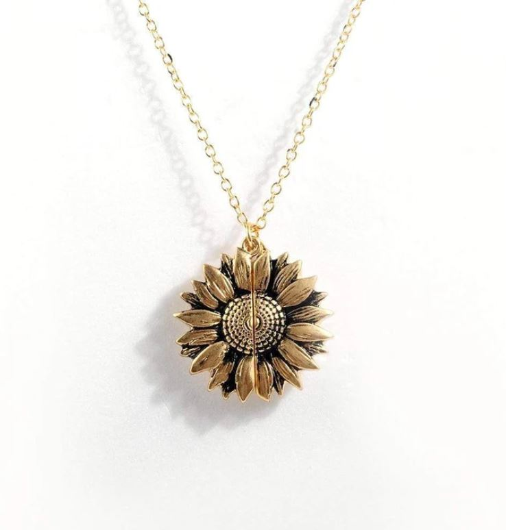"""You Are My Sunshine"" Sunflower Pendant - The Sunflower Pendant"