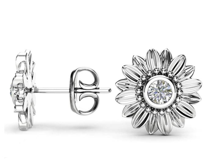 Sunflower Statement Stud Earrings - The Sunflower Pendant