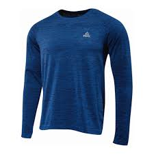 Mens Blue Seamless Long Sleeve
