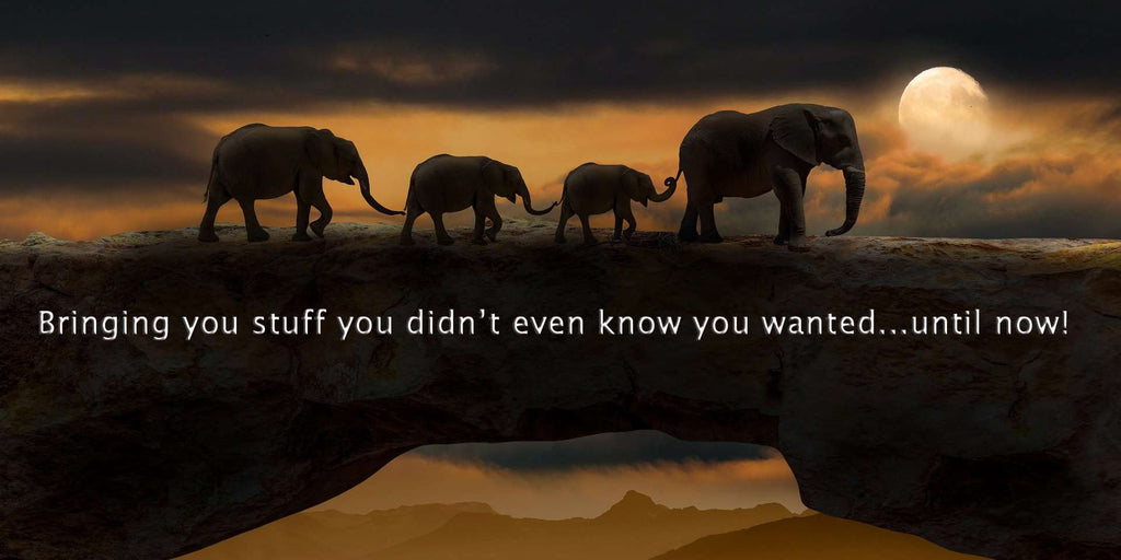Elephants bringing you stuff you didn't even know you wanted