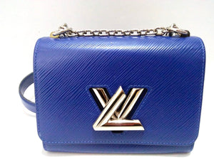 2016 LV Twist PM Epi Mini Blue Leather Shoulder Bag.