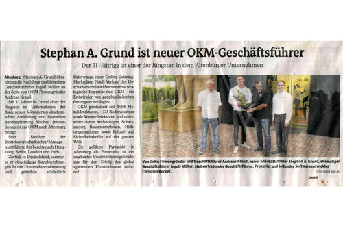 Regional press reports about change of managing director at OKM