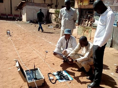 Water detection in Africa