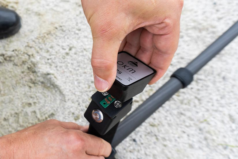 Ground Scanner with removable GPS Receiver
